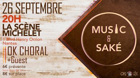 Music & Saké revient à Nantes !