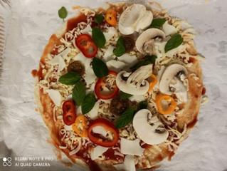 פיצה טורטייה בשלושה צבעים