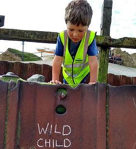 a Wild Child at West Runton Beach