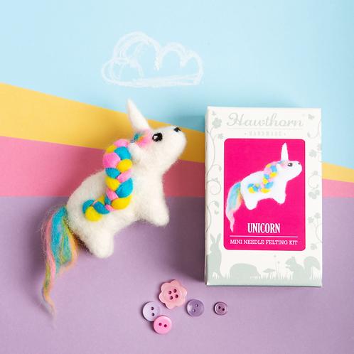 Mini Unicorn Needle Felting Kit