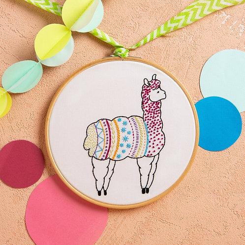 Alpaca Embroidery Kit