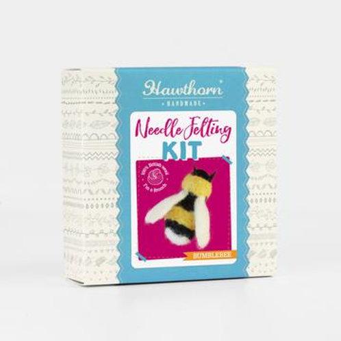 Bee Brooch Needle Felting Kit