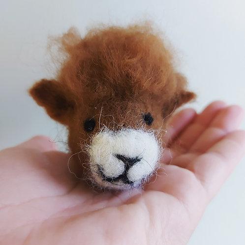 Alpaca Head Keyring