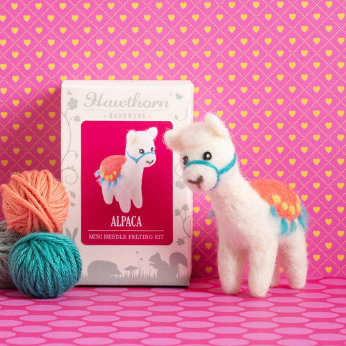 Mini Alpaca Needle Felting Kit