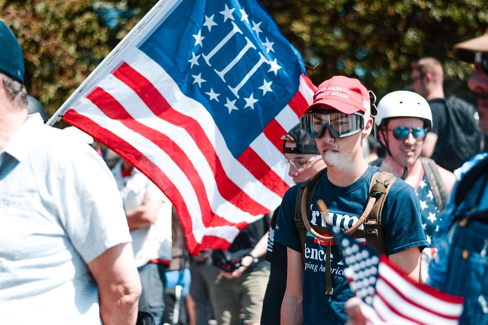 Patriots march on Portland August 4th 2018