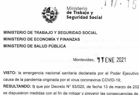 Pandemia: MTSS extendió subsidio por enfermedad a mayores de 65 años