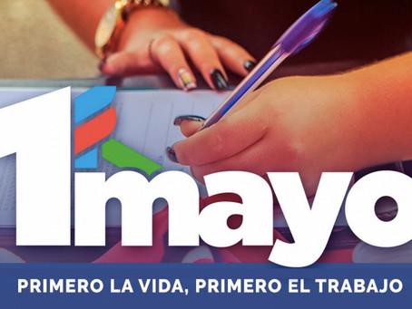 #1deMayoUy - Sin acto ni cadena, el Día de Trabajadores será de recolección de firmas y alimentos