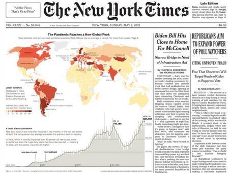 The New York Times dejó mal parado a Uruguay en su portada de hoy