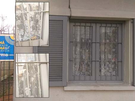 En La paz atacaron con piedras la casa de una mujer que recolecta firmas para derogar la LUC