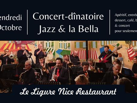 30/10 Concert-dînatoire Jazz & la Bella