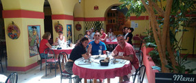 lunch in the Ligure patio nice
