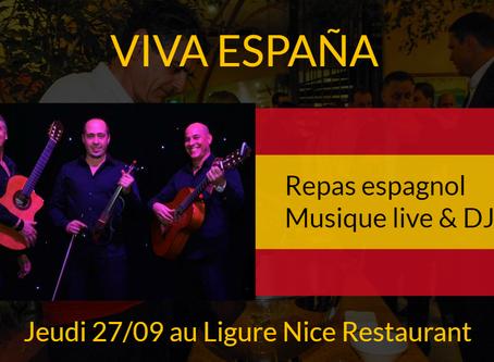 Le 27/09 à Nice, soirée dansante Viva España
