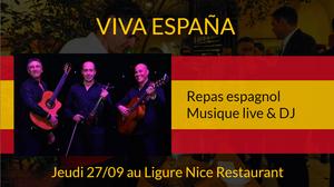 soirée espagnole au Ligure à Nice le 27 septembre