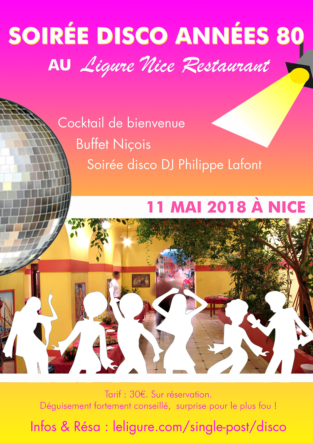 11 mai 2018 soiree disco annees 80 ligure nice restaurant