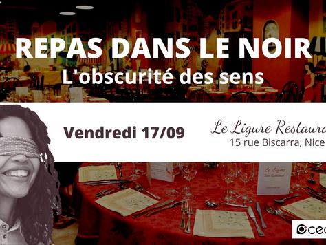 17/09 Repas dans le noir à Nice