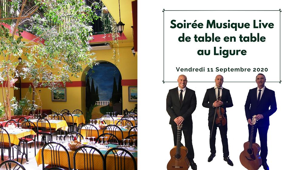 Soirée Musique live au Ligure Nice Restaurant
