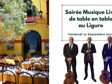 Soirée Musique Live de table en table