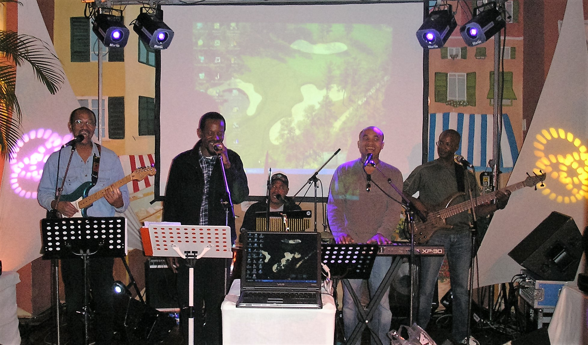 Groupe de musique jeux de lumière
