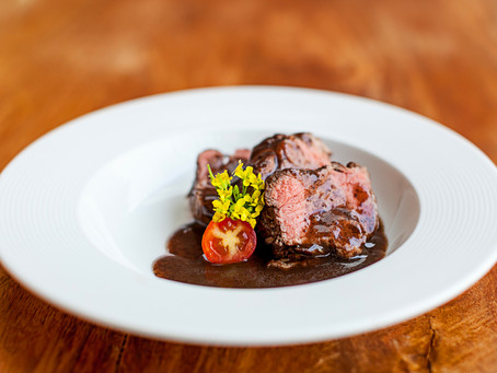 Seared Filet with Beurre Rouge Sauce