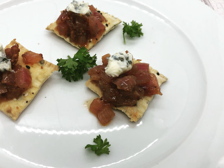 Homemade Crackers with Bacon Onion Jam