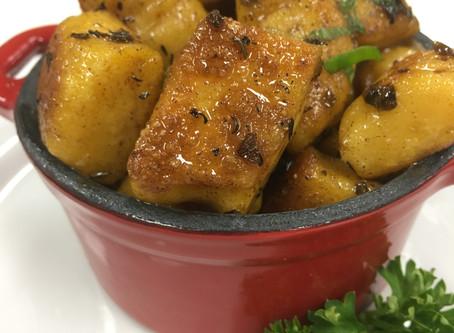 Gluten Free Sweet Potato Gnocchi with Light Carbonara Sauce