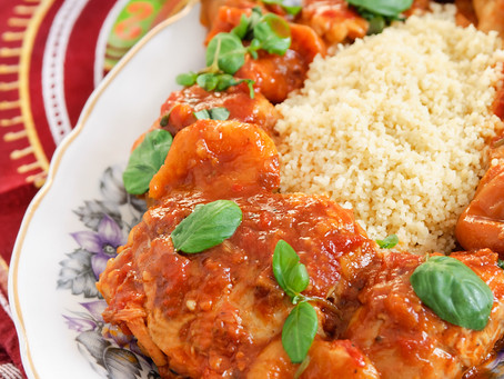 Apricot Chipotle Chicken with Goat Cheese