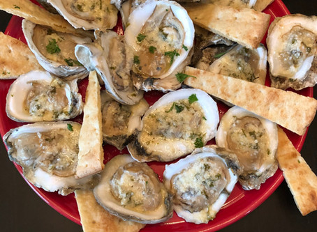 """Garlic and Butter """"Flame Kissed"""" Oysters"""