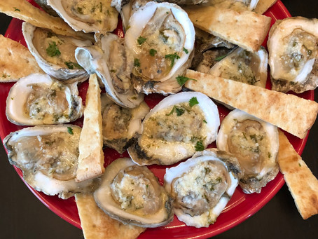 "Garlic and Butter ""Flame Kissed"" Oysters"