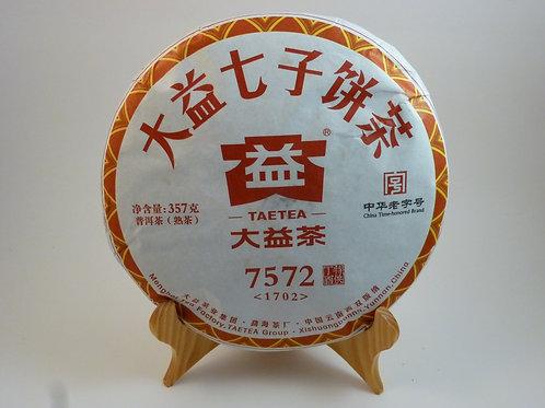 7572 Menghai Dayi Ripe Pu-erh Tea Cake