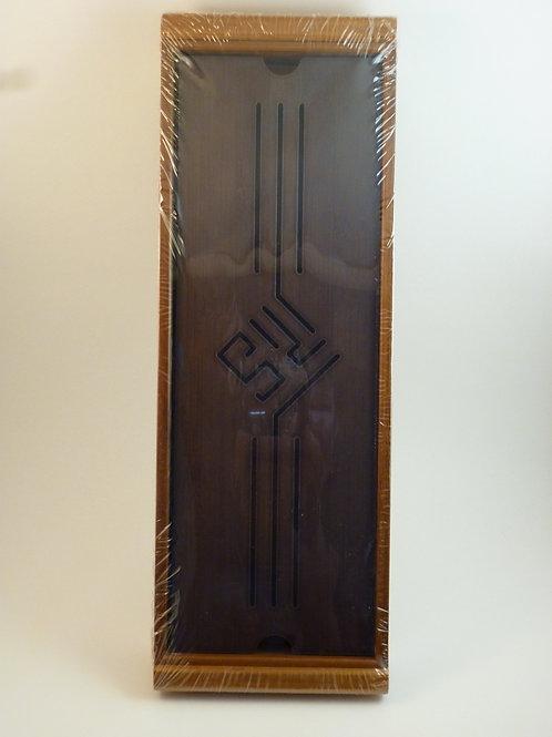 Dark Top Bamboo Tea Tray