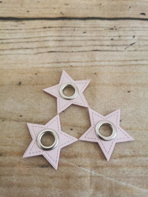 Ösen Patch Stern rosa