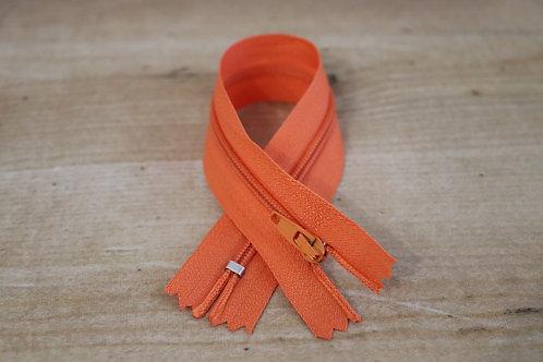 Reissverschluss fein 20cm lang / orange