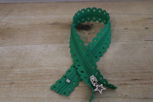 Sternen Reissverschluss 30cm lang /grün