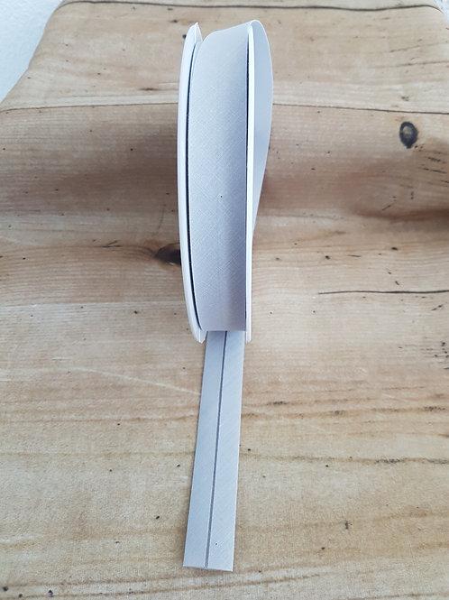 Schrägband hellgrau, 2cm / Meterware
