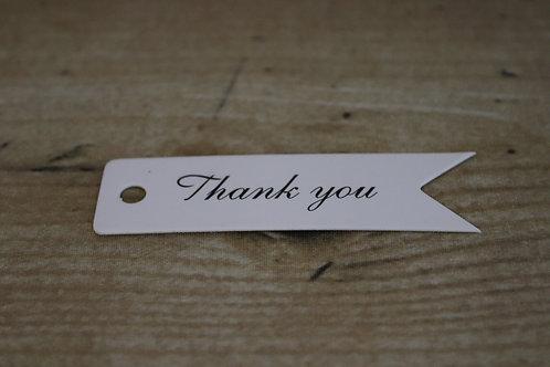 """Etiketten """"Thank you"""" weiss/lang, 10 Stk."""