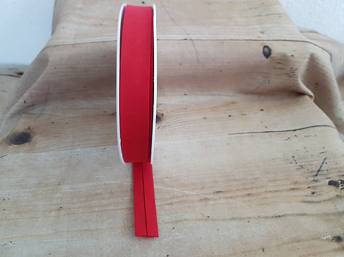 Schrägband rot, 2cm / Meterware