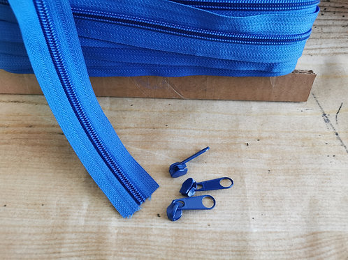 Reissverschluss 6mm blau