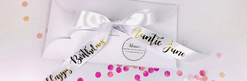 Personalised Gift Ribbon