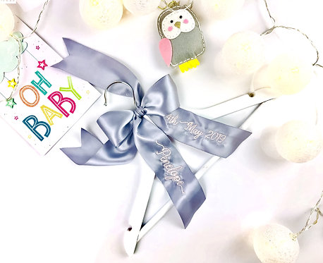 Personalised Embroidered Baby Gift Hangers