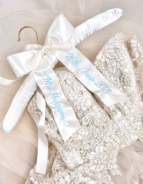 Personalised Embroidered Bridal Gown Hanger