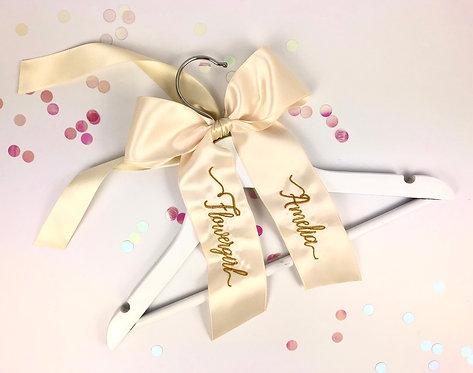 Personalised Children's Bow Ribbon Hanger
