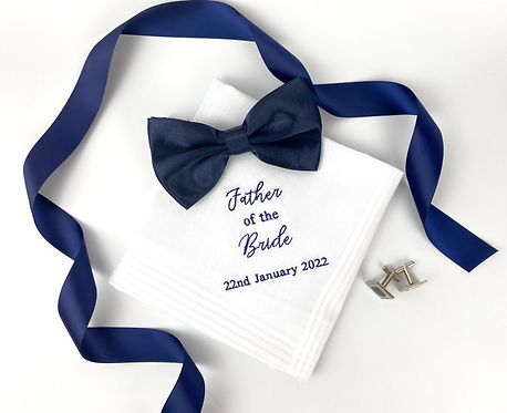 Personalised Embroidered Mens Handkerchief