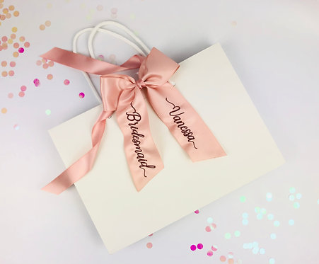 Personalised Bow Gift Bag