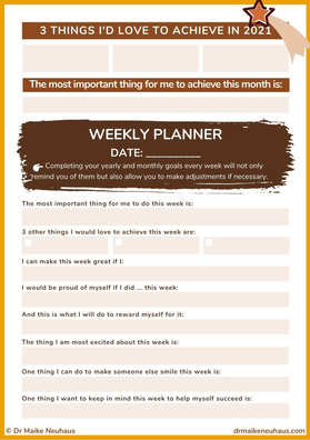 Annual/ Weekly Planner 2021
