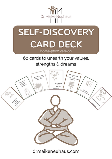 Self-discovery card deck HOMEPRINT VERSION
