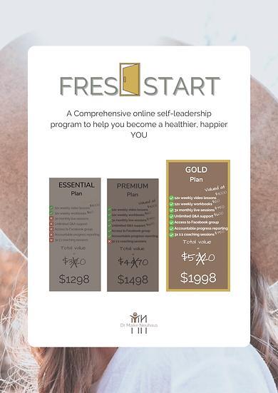 FRESH START - Online Program: GOLD Plan