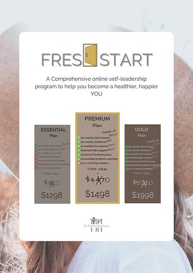 FRESH START - Online Program: PREMIUM Plan