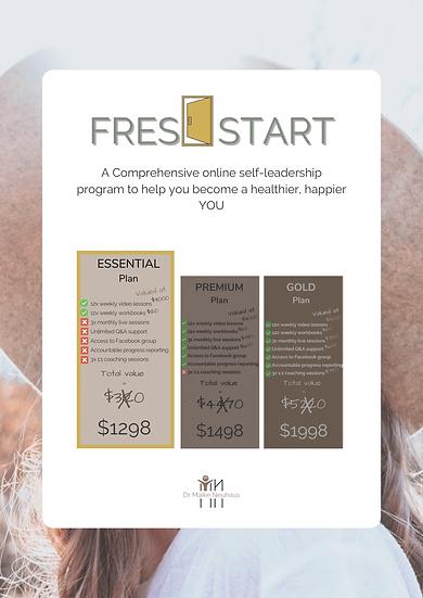 FRESH START - Online Program: ESSENTIAL Plan