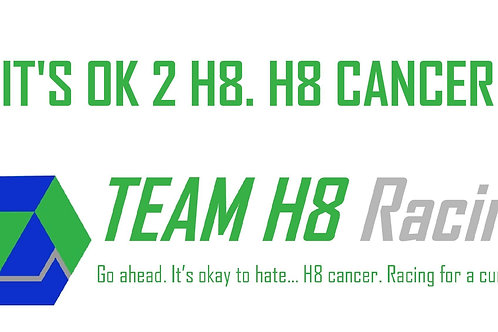 Team H8 Racing Bumper Sticker