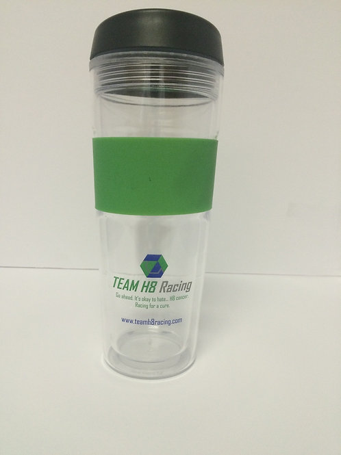 Team H8 Racing Tumbler with Lid.